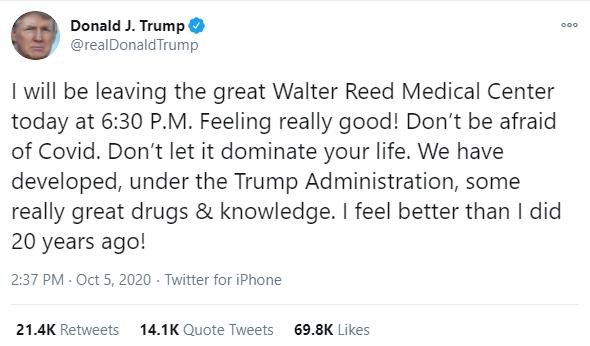 Trump COVID-19 Tweet